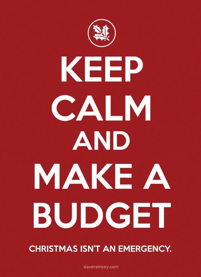 Keep Calm and Make a Budget - daveramsey.com