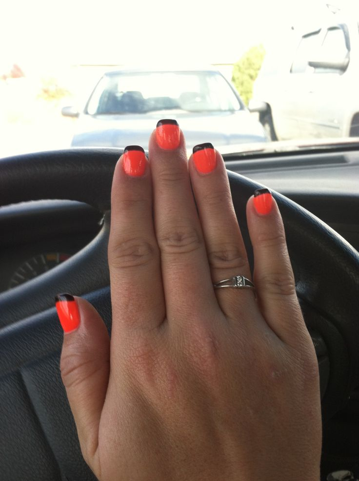 Harley Davidson nails!! Could also say Halloween seeing as how it's so ...