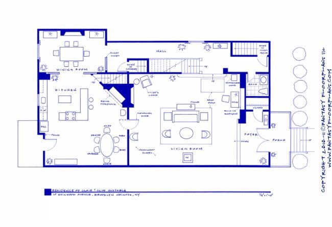 Huxtable Home Plan The Cosby Show Pinterest