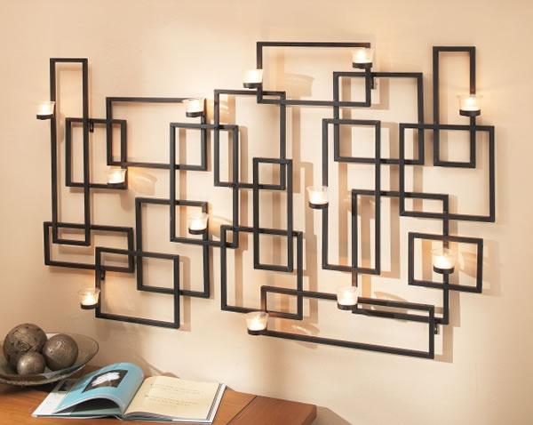 Wall votives tea lights as art. For the Home Pinterest