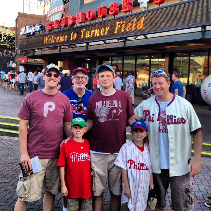 A Phillies family taking in a game at Turner Field