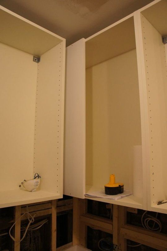 IKEA Kitchen Cabinet Hack For Upper Cabinet Blind Corner