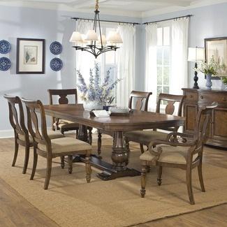 Beautiful Light Blue Dining Room