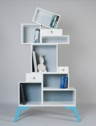 funky bookcase design ideas heavy on the purple pinterest