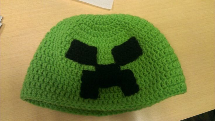 Minecraft crochet hat crafts Pinterest