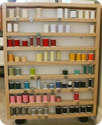 Tutorial: DIY Thread Spool & Bobbin Storage from SewingOverPins