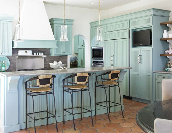 Turquoise kitchen awesome pretty kitchen ideas pinterest for Blue sky kitchen designs