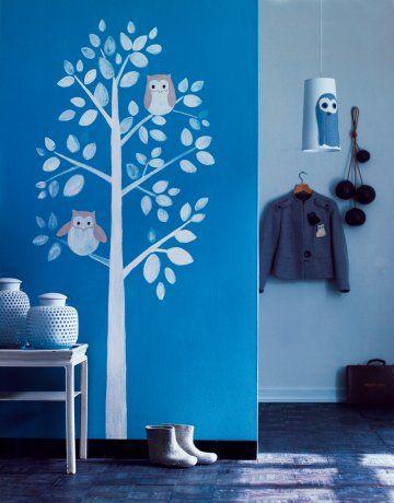 Owl tree mural