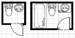 Room Dimensions Bathroom Pinterest