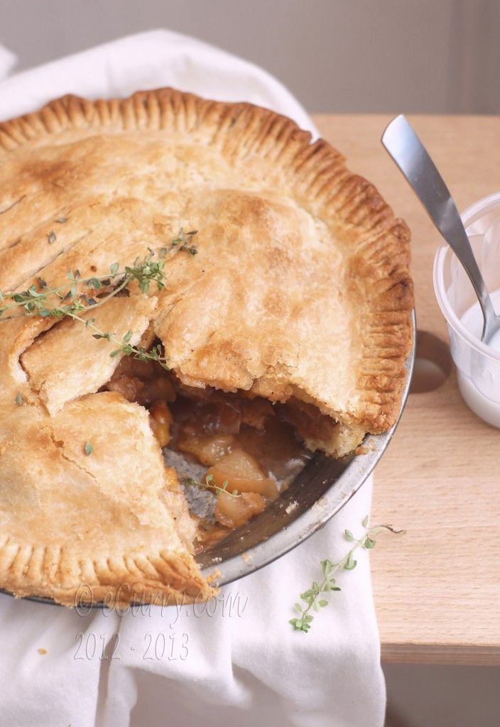 Apple Pie with Lemon Thyme and Ginger. On my list of things to try ...