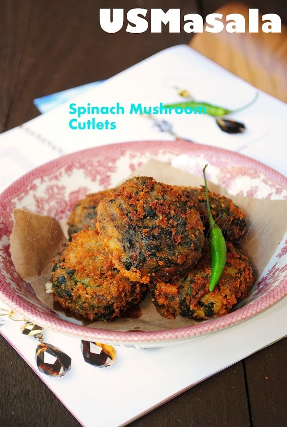 Spinach Mushroom Cutlets | Creative Cooking! | Pinterest