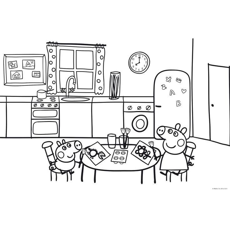 Dibujo de peppa pig para imprimir y colorear 17 de 19 for Comedor para dibujar