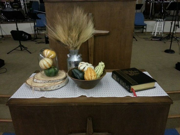 Communion Table Autumn Decoration 2013 Religion