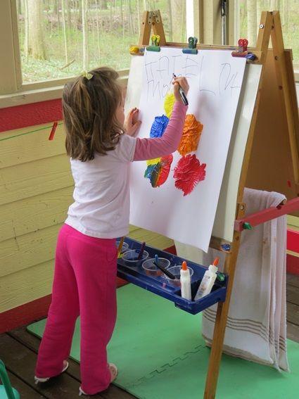 Preschool Easel Painting Ideas