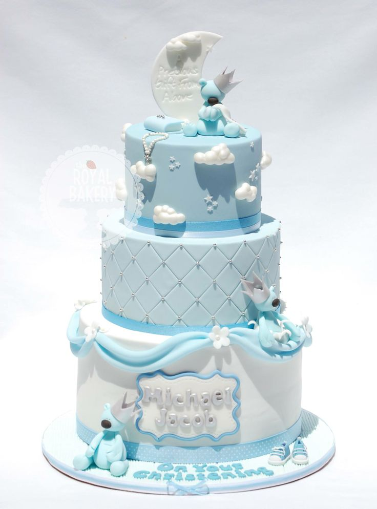 Baby boy baptism cake ideas 16003 baby boy christening cak for Baby boy cake decoration