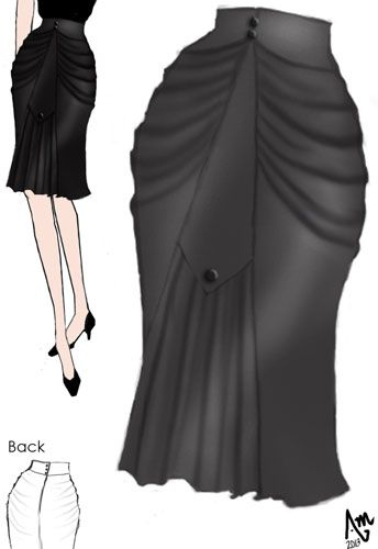 Ruched 1940s Short Skirt in Ponte by Amber Middaugh --- Vote for this design (by click on it ) Winning designs get made into real clothes by Chicstar. Get 37% off everything at Chicstar by using my designer's Coupon-- Code: AMBER37 Thank you!