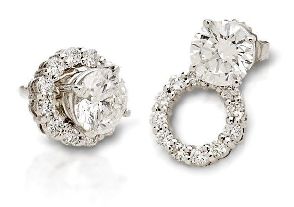 Earring jacket for diamond studs qld