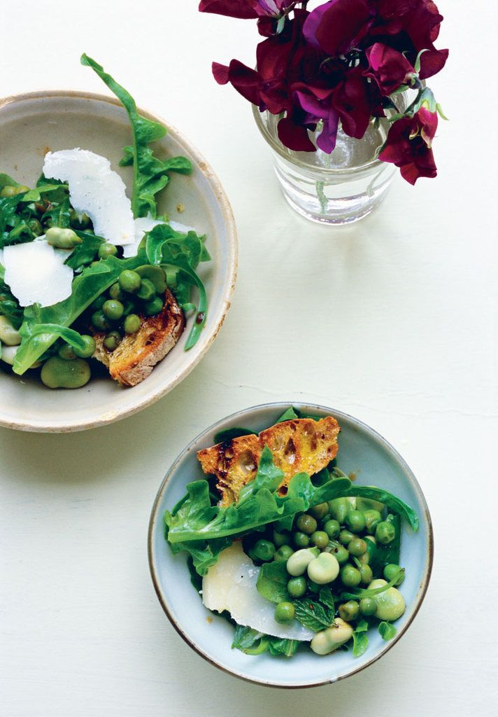Salad of Beans, Peas, and Pecorino | Food..Glorious Food | Pinterest