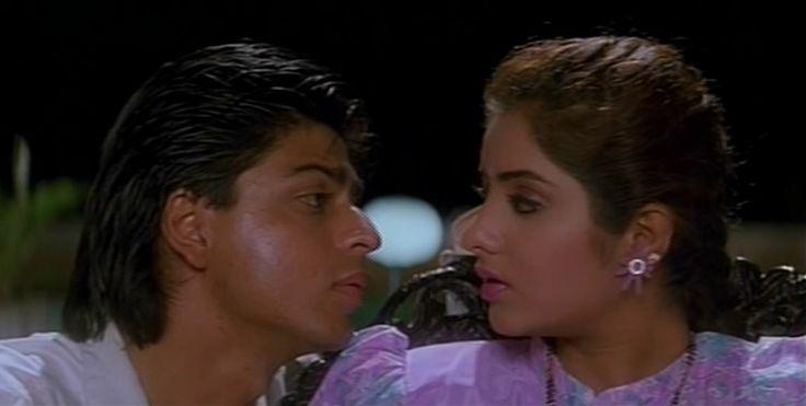 Shah Rukh Khan and Divya Bharti - Deewana  1992 Divya Bharti In Deewana