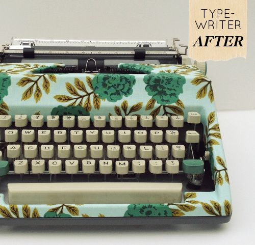 Hold me back!  I've got about 8 vintage typewriters.  Two of them I won't change, ( a mint green Hermès and an aqua beauty.)  The rest are awesome but I think they all deserve a pretty new dress!  Can't wait!