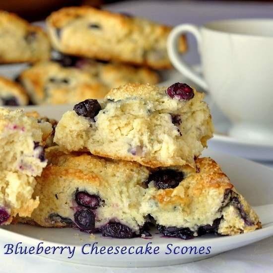 BLUEBERRY CHEESECAKE SCONES | Baking | Pinterest