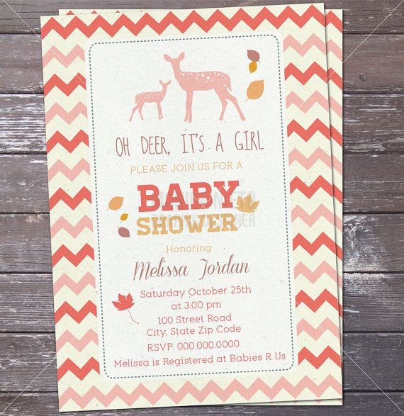 deer woodland baby shower invitation oh deer baby girl or baby boy