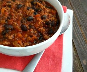 Black Bean and Beef Chili http://www.thesaltykitchen.com/black-bean ...