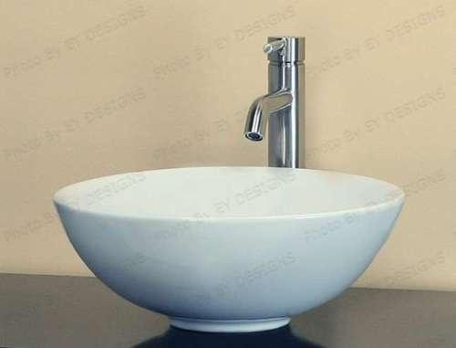 Porcelain Vessel Sinks Bathroom : NEW WHITE PORCELAIN CERAMIC VESSEL SINK BATHROOM BOWL X eBay