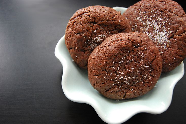 Chocolate Truffle Cookies with Sea Salt | Cookies | Pinterest