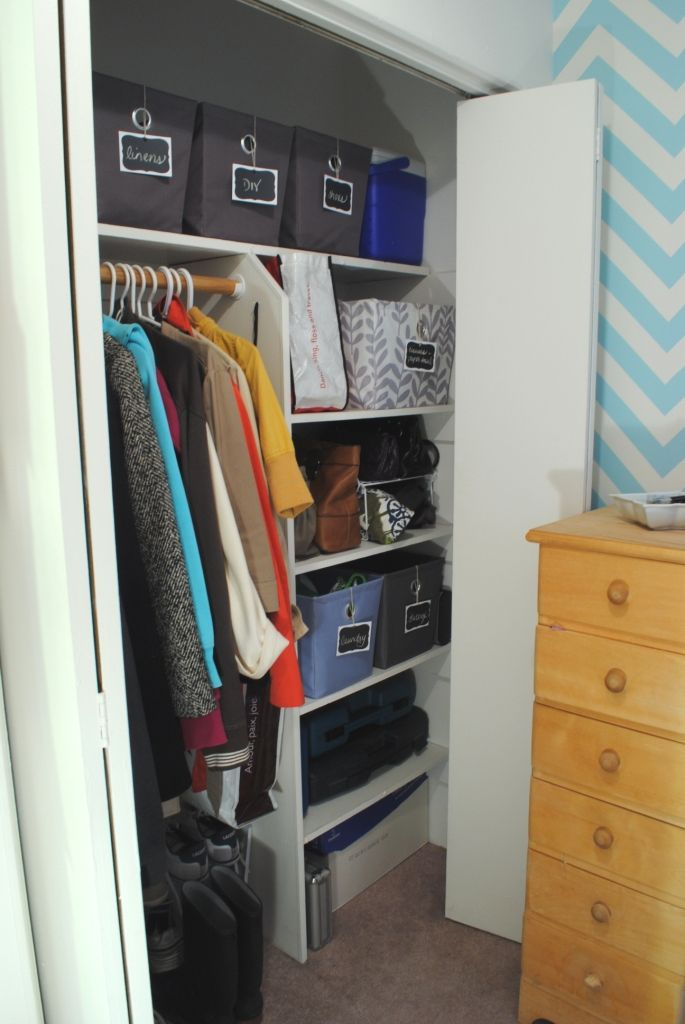 An organized apartment closet  Organization  Pinterest