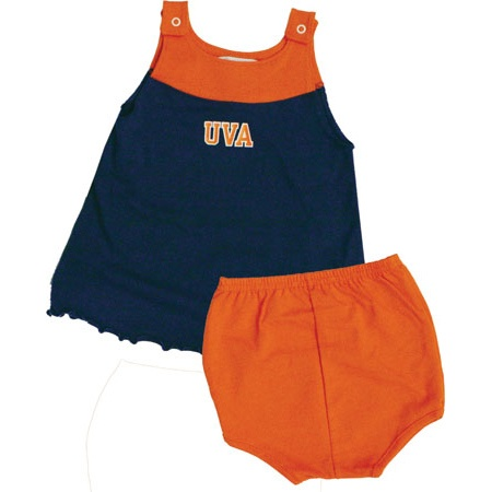 Adorable dress for the baby of any UVA grad.