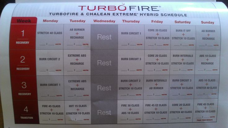 printable turbo fire workout schedule search results calendar 2015. Black Bedroom Furniture Sets. Home Design Ideas