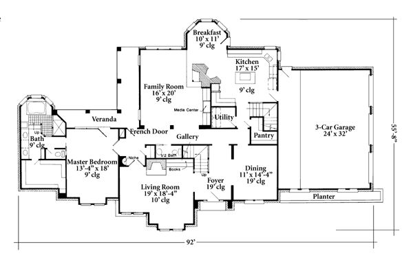 European Farmhouse House Plan 90399