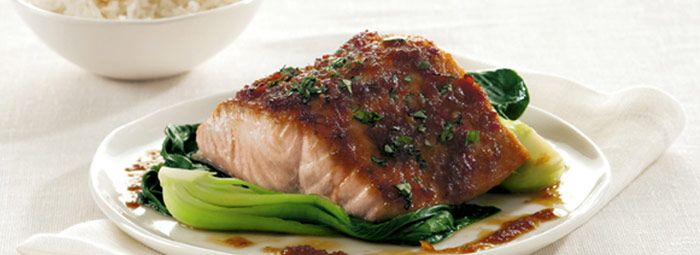 Ginger & Soy Glazed Salmon with Buk Choy | Food, Glorious Food! | Pin ...