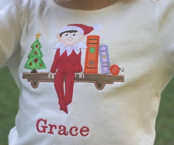Elf on the shelf shirt so cute deck the halls pinterest