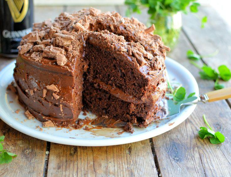 ... are Smiling! Chocolate Guinness Cake & Irish Cream Chocolate Mousse