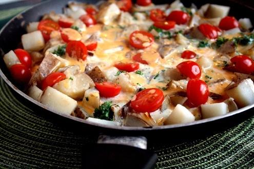 Cheesy Potato Frittata | Recipes - Breakfast | Pinterest