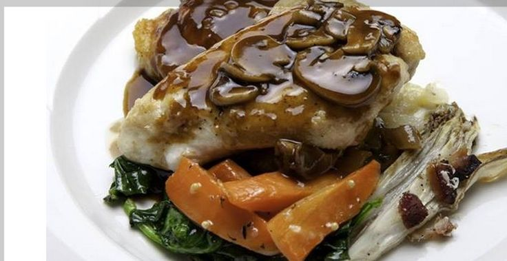 Pan Seared Chicken Breast With Mushroom Sauce