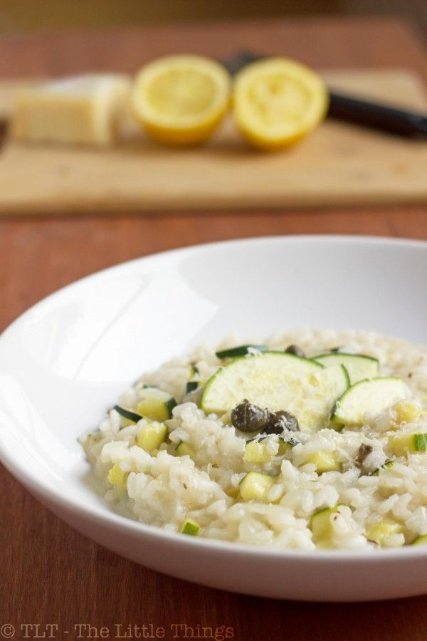 Zucchini Risotto with Capers and Pecorino | Recipe
