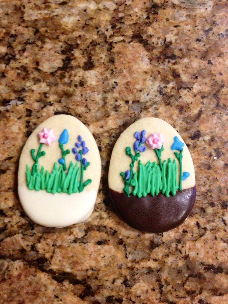 Chocolate Dipped Easter Eggs | MommaZinga Cookies (My Cookies) | Pint ...