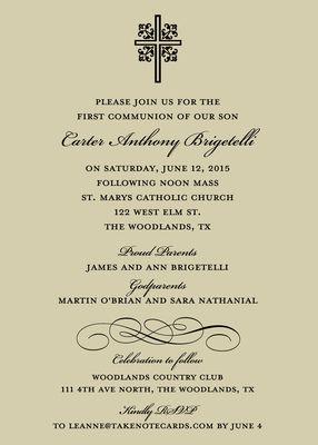 Ornate Cross Invitations