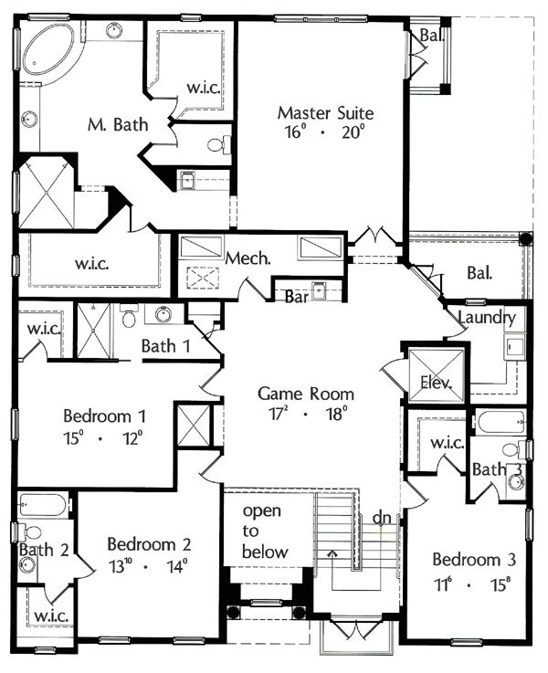 italian house plan 64640