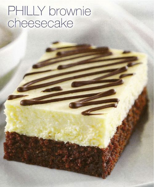 PHILLY Brownie Cheesecake | cakes | Pinterest