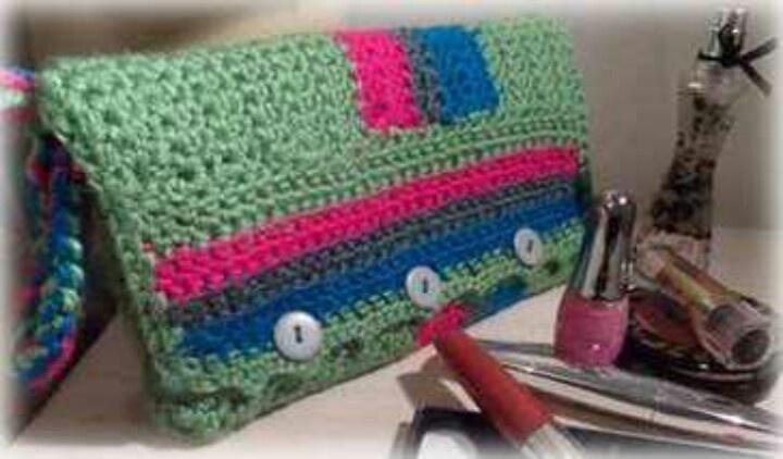 Crochet Makeup Bag Free Pattern : Crochet bag Crochet Pinterest