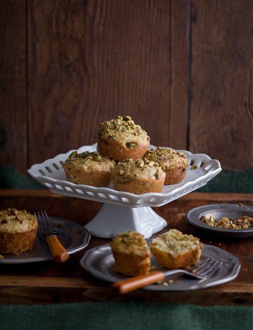 Pistachio Olive Oil Mini Tea Cakes