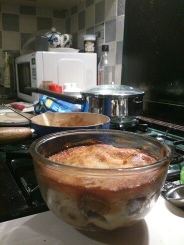 Caramel, rum and banana bread pudding | Because I bake things | Pinte ...