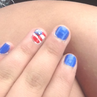 easy memorial day nails