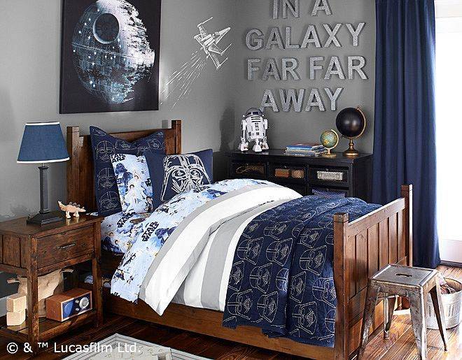 Star Wars Kids Rooms : Star Wars™  Pottery Barn Kids-no star wars theme, using our sheets ...