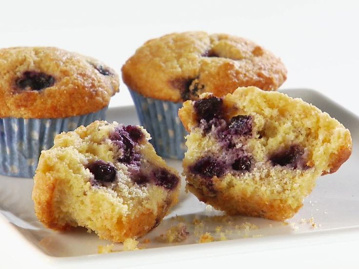 Blueberry Buttermilk Corn Muffins Recipe : Giada De Laurentiis : Food ...
