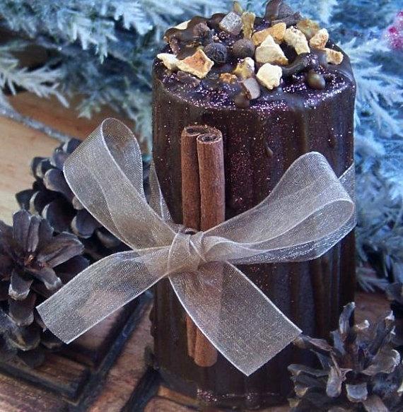 WINTER MAGIC WASSAIL Yule Sabbat Soy Pillar Candle for Winter Solstice ...